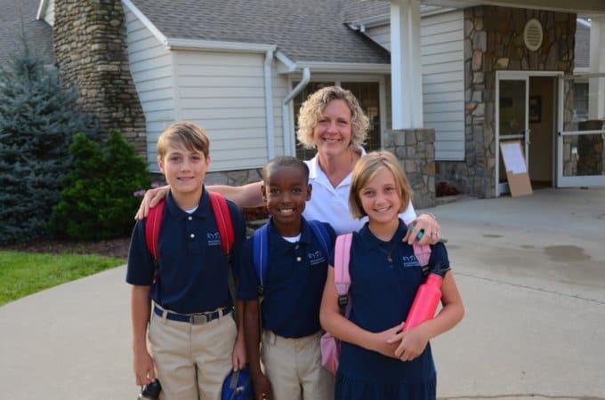 Nancy with kids